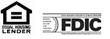 Equal Housing Lender and FDIC Insured logos